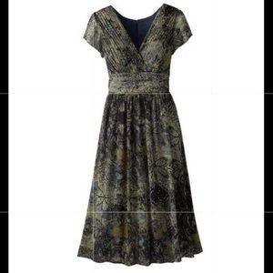 Coldwater Creek Crinkle Paisley Chiffon Dress